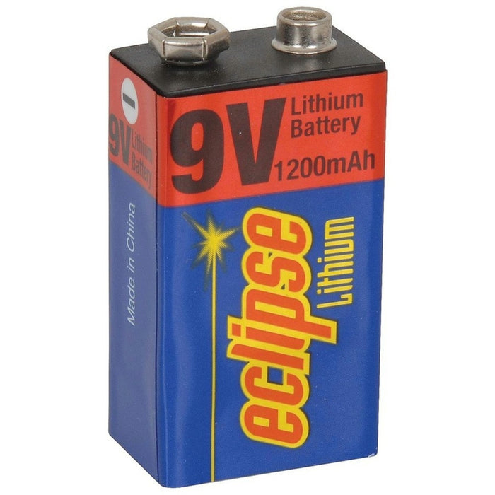 Lithium 9V Battery 1200mAh Eclipse