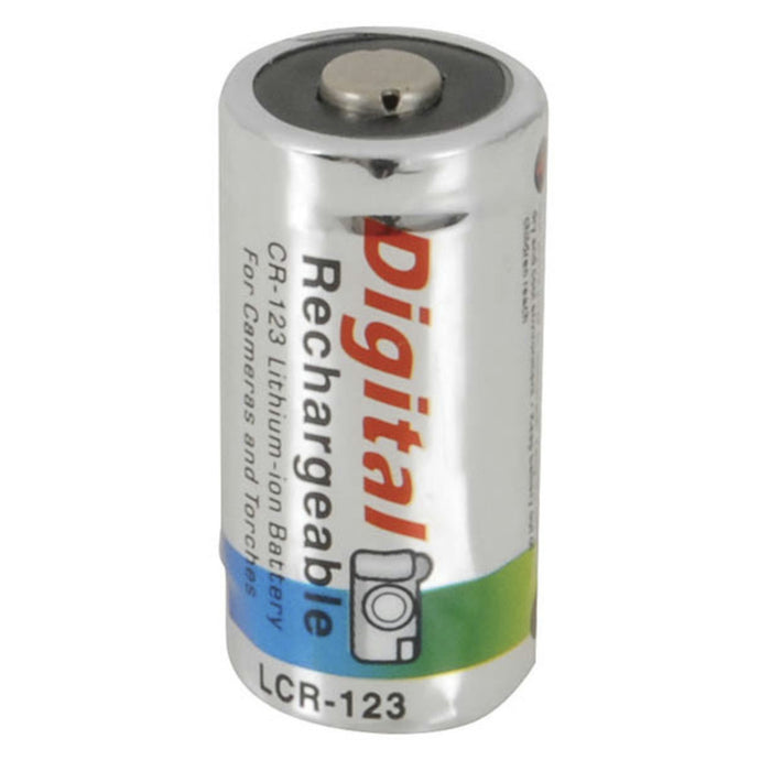 Rechargeable 3V Lithium Ion CR123A Battery