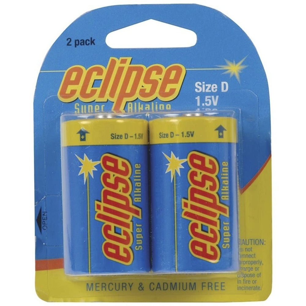 D size Alkaline - Eclipse Batteries - Pk. 2