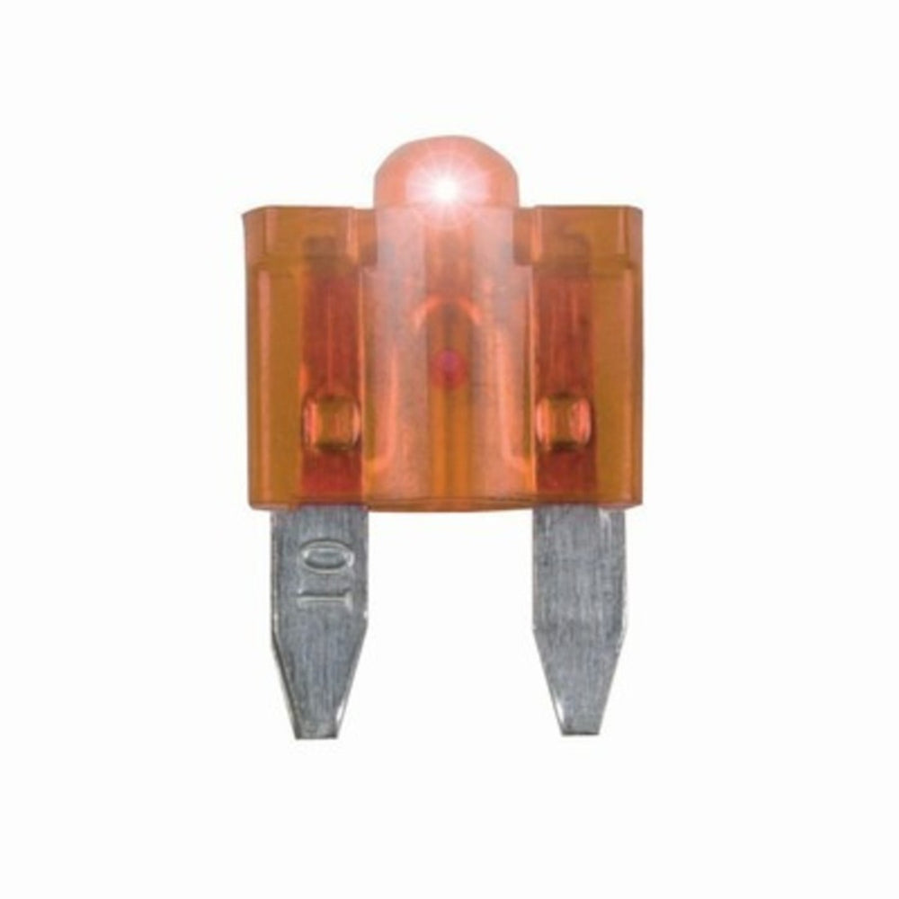 5A Mini Blade Fuse with LED Indicator - Orange