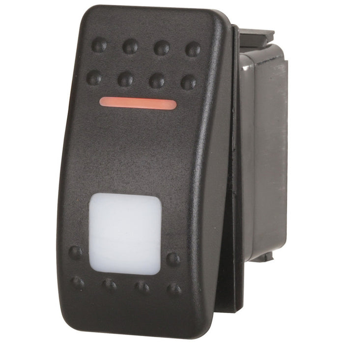 SPDT Dual Illuminated Rocker Switch with Labels & Interchangeable Covers Orange