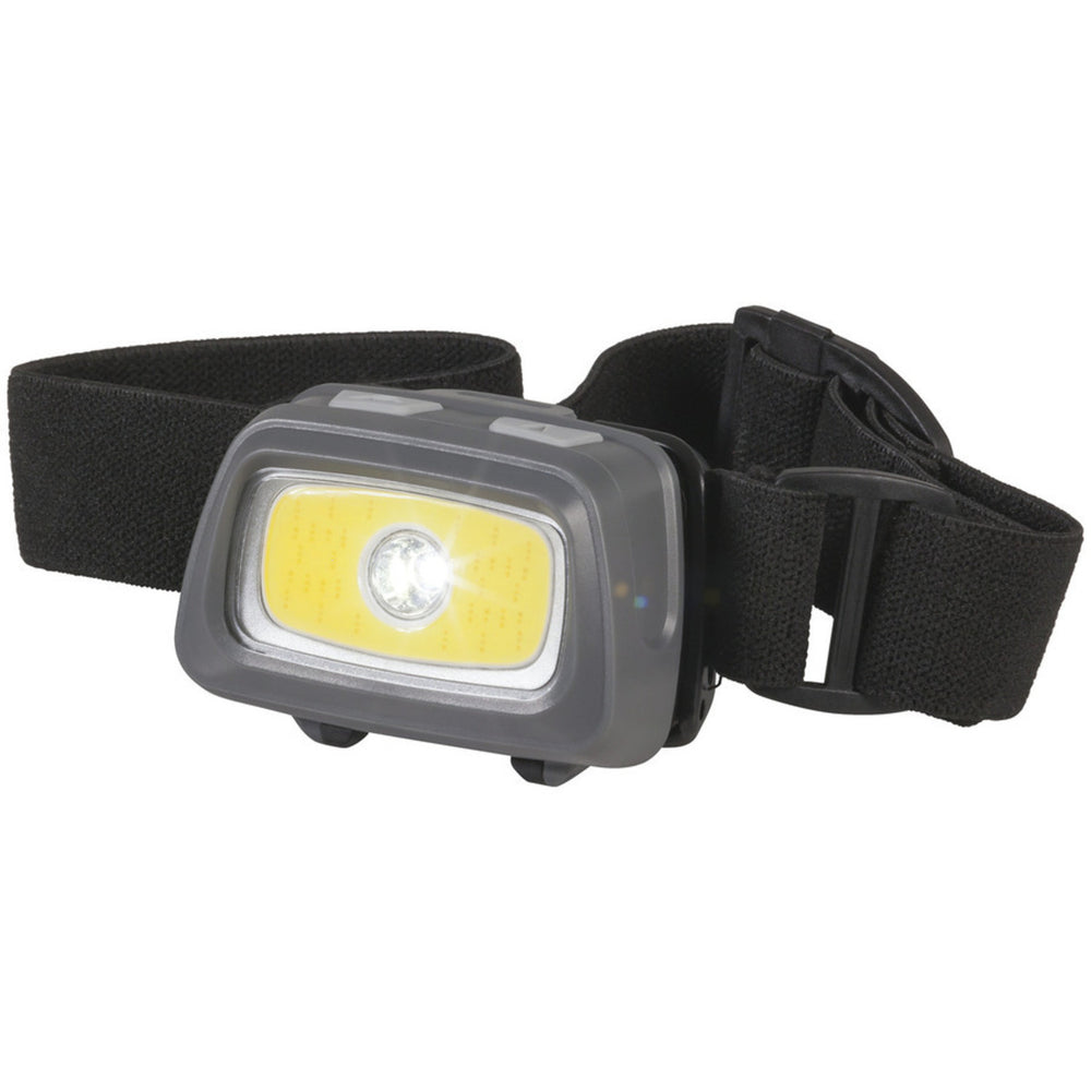 LED Head Torch with White Red and Green LEDs 3xAAA
