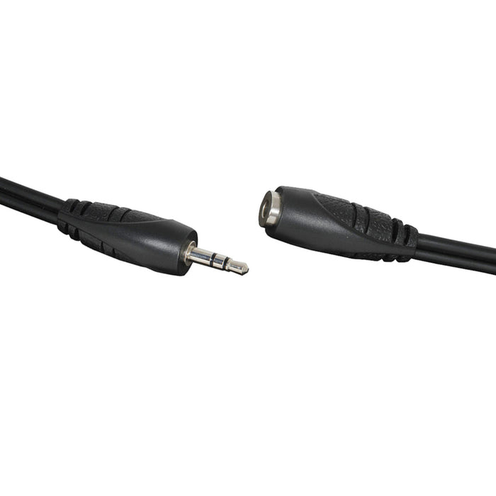 3.5mm Stereo Plug to 3.5mm Stereo Socket Audio Lead - 3m Curly