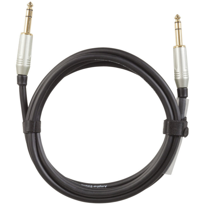 Amphenol 6.5mm Plug to 6.5mm Plug Balanced Audio Cable - 6m length