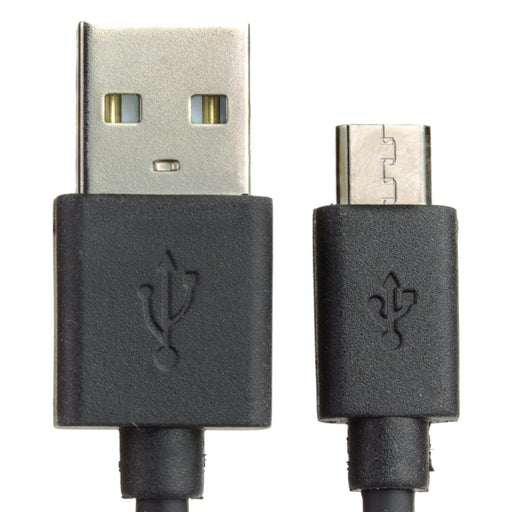 USB A to microB cable - Black - 25cm