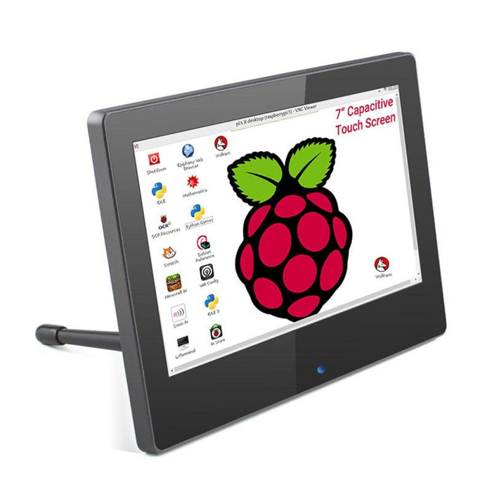 7 Inch 1024x600 Raspberry Pi Monitor Touchscreen Capacitive IPS Display with Built-in Speaker & Stand