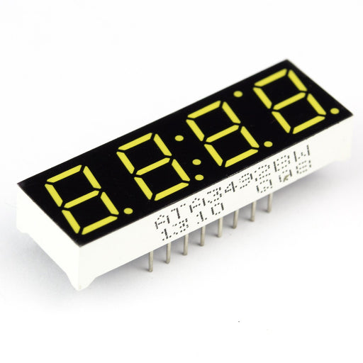 4 Digit 7 Segment Display - Yellow