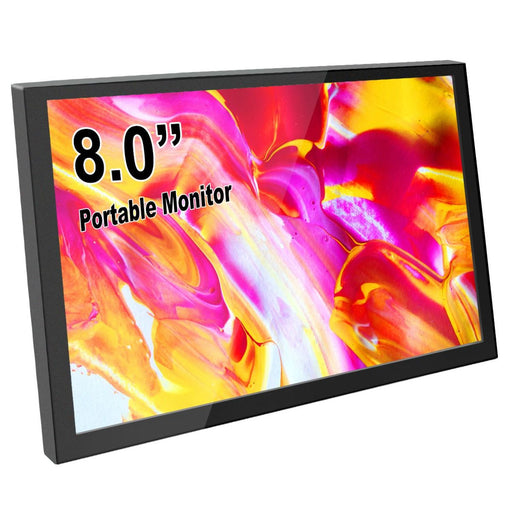8 Inch Mini HDMI Portable LCD Display 1280x800 Resolution Monitor Built in Speakers