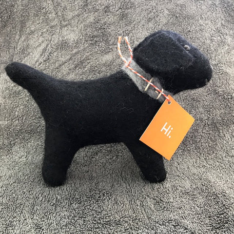 Black Dog - Small felted