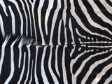 Sustainable Quality Zebra Hide Rug #7927
