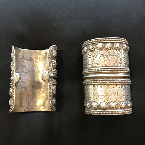 Antique Ersari Turkmen Silver Cuff