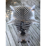 Sustainable Quality Zebra Hide Rug #8085