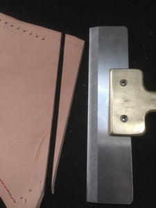 Brass interchange blade card slot punch