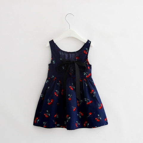 Floral Sleeveless V Shaped Dress