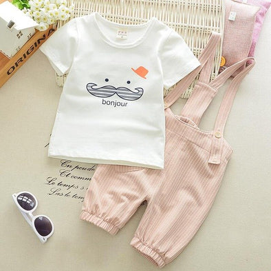 Casual Cute Beard Cotton Suit