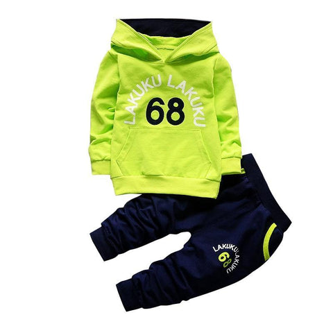 Cotton & Microfiber Flare Sleeve Hooded Tracksuit