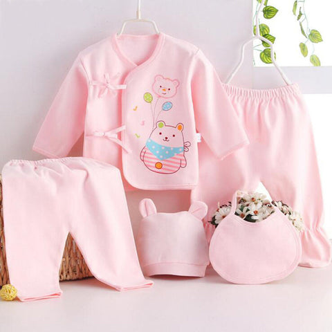 5pcs/set Infant Girls Suit