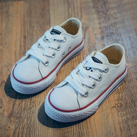 Solid Pattern Breathable Boys Sneakers Shoes