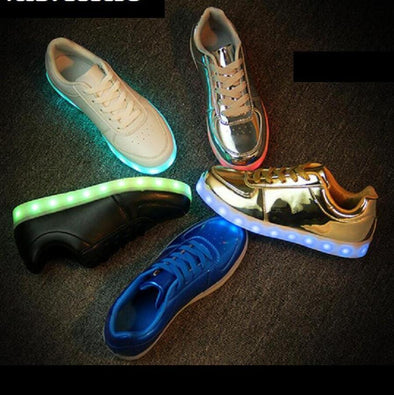 Luminous Sneakers USB Charge Led Children Shoes