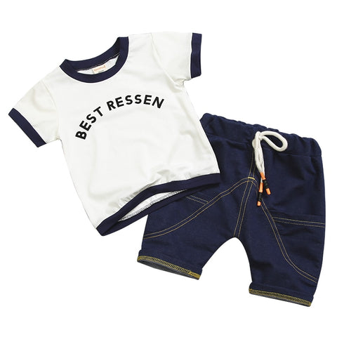 2 Piece Novelty Sleek Design Boy Clothing Set