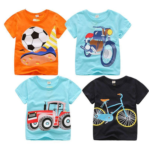 Summer Baby Boys T Shirt Cartoon Print Limited Time Edition
