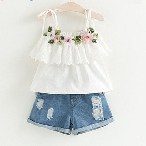 Flower Decorated Baby Girl Suit