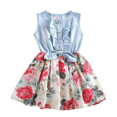 Casual Flower Princess Girl Dress