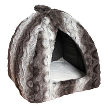 Load image into Gallery viewer, Grey Cream Snuggle Plush Pyramid