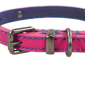 Rosewood Joules Pink Leather Dog Collars