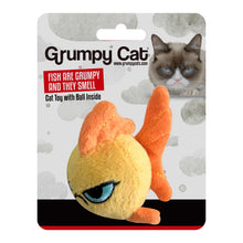 Load image into Gallery viewer, Grumpy Goldfish Ball Cat Toy
