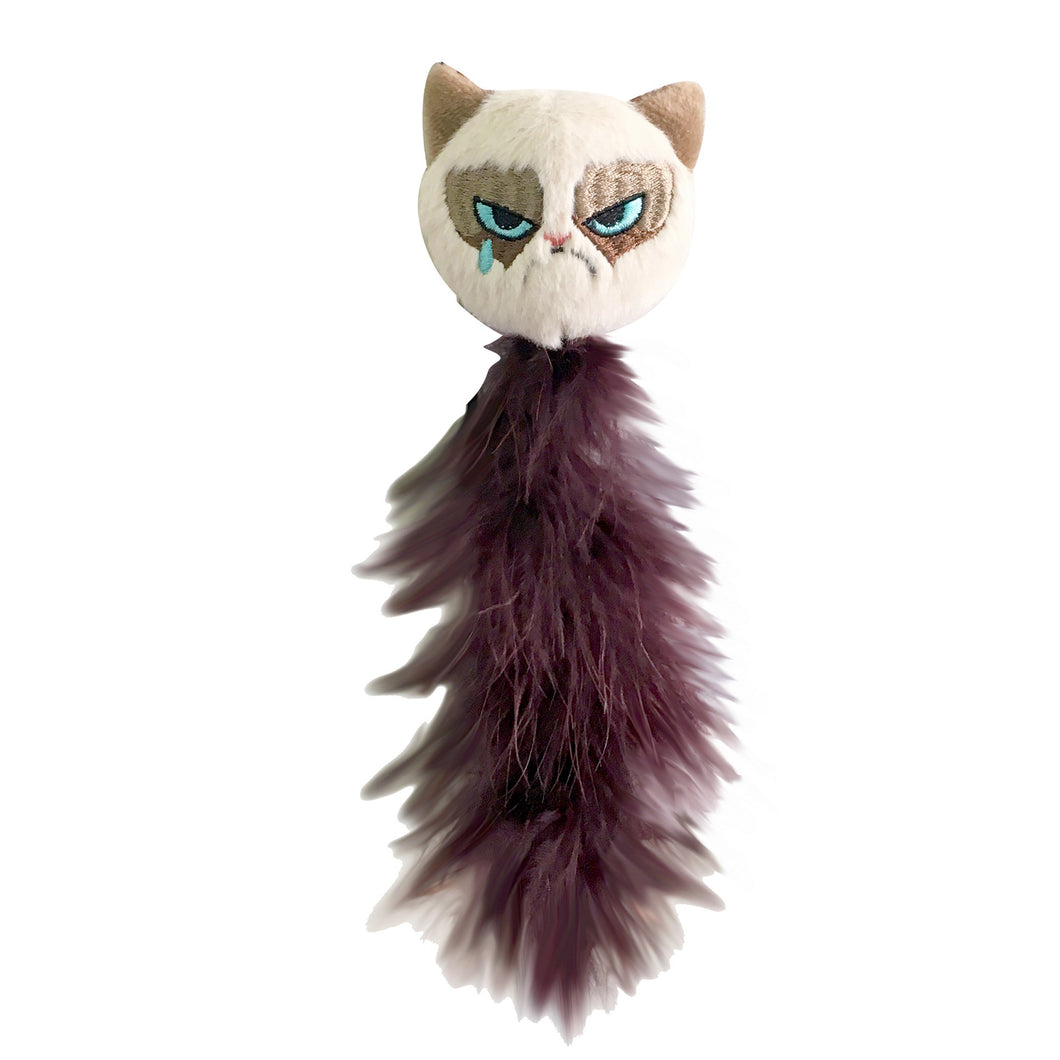 Grumpy Feather Tail Cat Toy