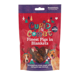 Rosewood Finest Pigs In Blankets Christmas Dog Treats 100g