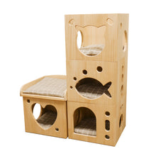 Load image into Gallery viewer, Catwalk Collection Solid Wood Cat Sleeper Caves