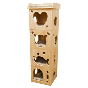 Catwalk Collection Solid Wood Cat Sleeper Caves