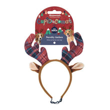 Load image into Gallery viewer, Tartan Reindeer Antlers