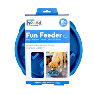Outward Hound Fun Feeder Notch Blue