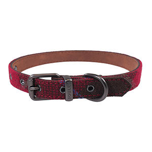 Rosewood & Joules Heritage Tweed Leather Dog Collars