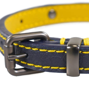 Rosewood & Joules Navy Leather Dog Collars