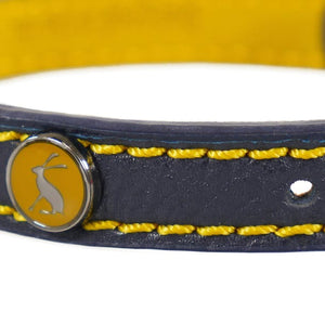 Rosewood Joules Navy Leather Dog Collars