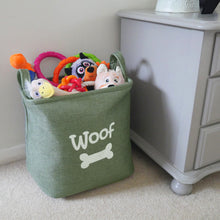 Load image into Gallery viewer, Forest Canvas Pet Toy Basket