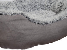Load image into Gallery viewer, Grey Lion Faux Suede Oval Bed