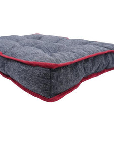 Rosewood Two-Tone Padded Pet Mattress Grey
