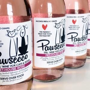 Luxury Pawsecco Rose Wine For Dogs and Cats 250ml