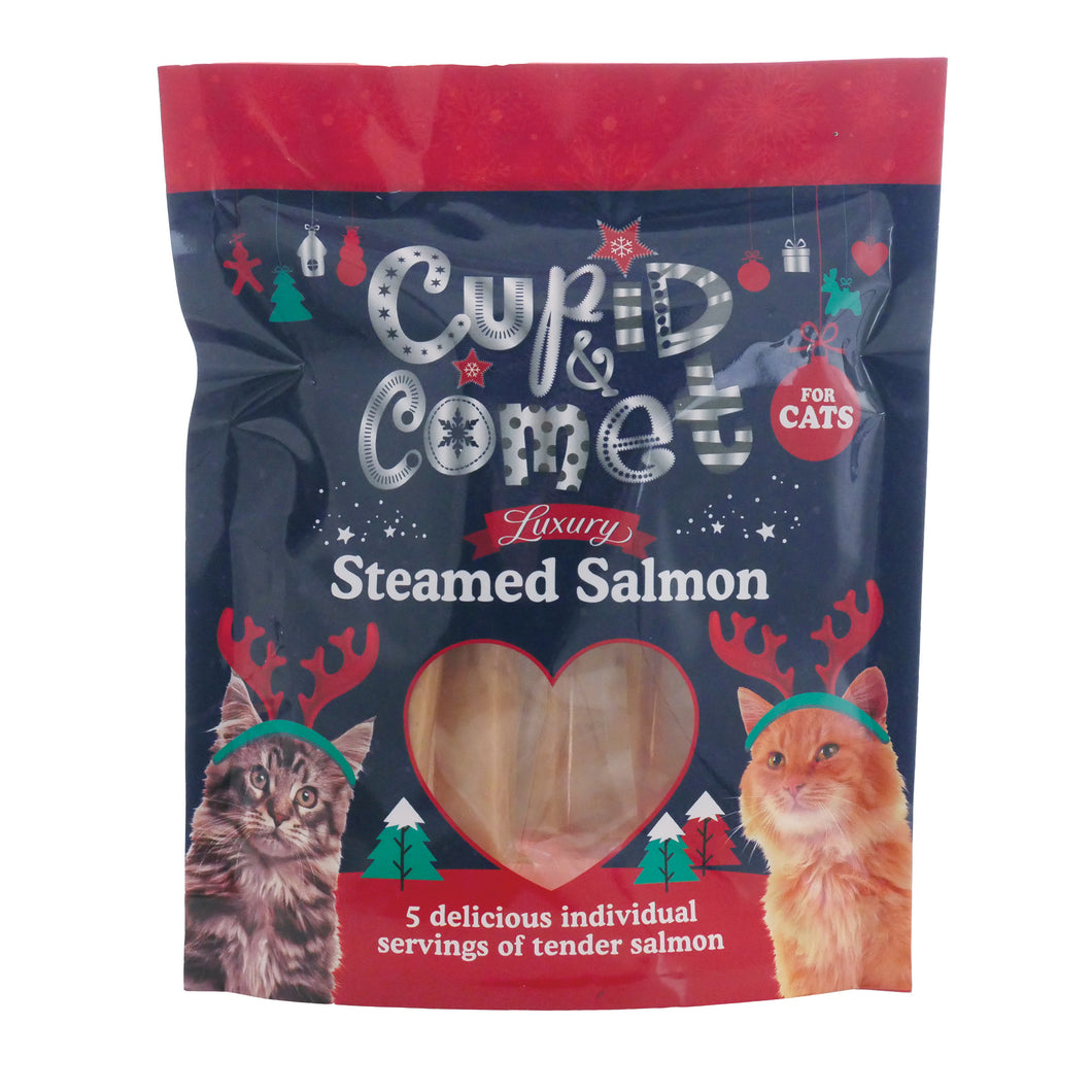 Rosewood Luxury Steamed Salmon Treats for Cats 5pc