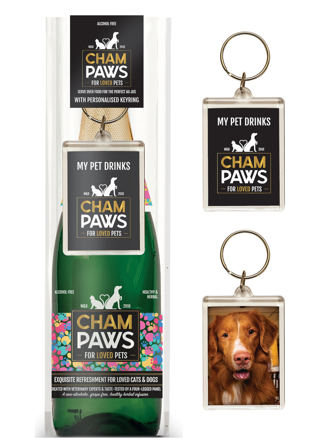Rosewood Champaws Gift Pack with Keyring