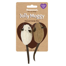 Load image into Gallery viewer, Jolly Moggy Natural Wild Catnip Mice 2pc