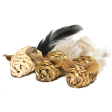 Load image into Gallery viewer, Jolly Moggy Natural Wild Catnip Mini Mice 3pc