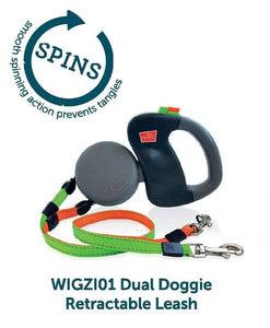 Wigzi Dual Doggie Retractable Leash