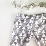 Legging triangles gris et blancs en coton bio