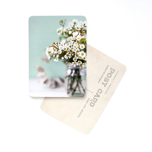 CINQ MAI - Carte postale Flowers Mint